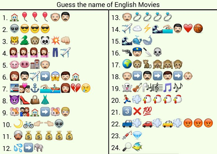 movie names puzzles qna